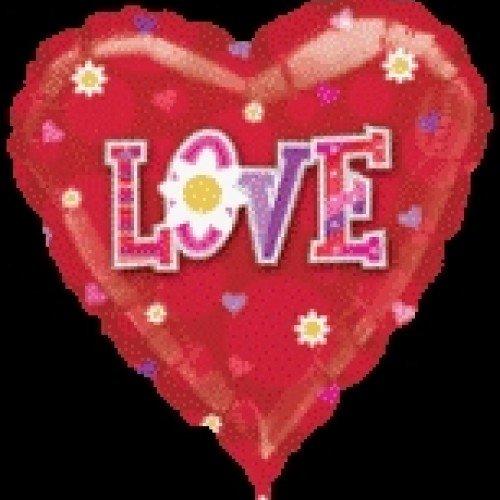"Фолиев балон сърце ""LOVE"""
